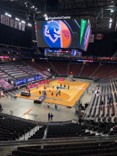 An empty house at the Prudential Center monday between Iona & Seton Hall/josh adams